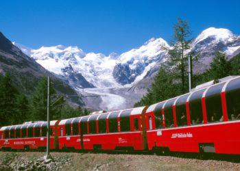 Il trenino rosso del Bernina: 8 /9 aprile 2017