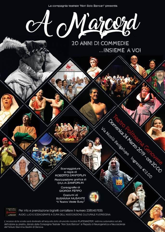 Locandina spettacolo marzo 2019